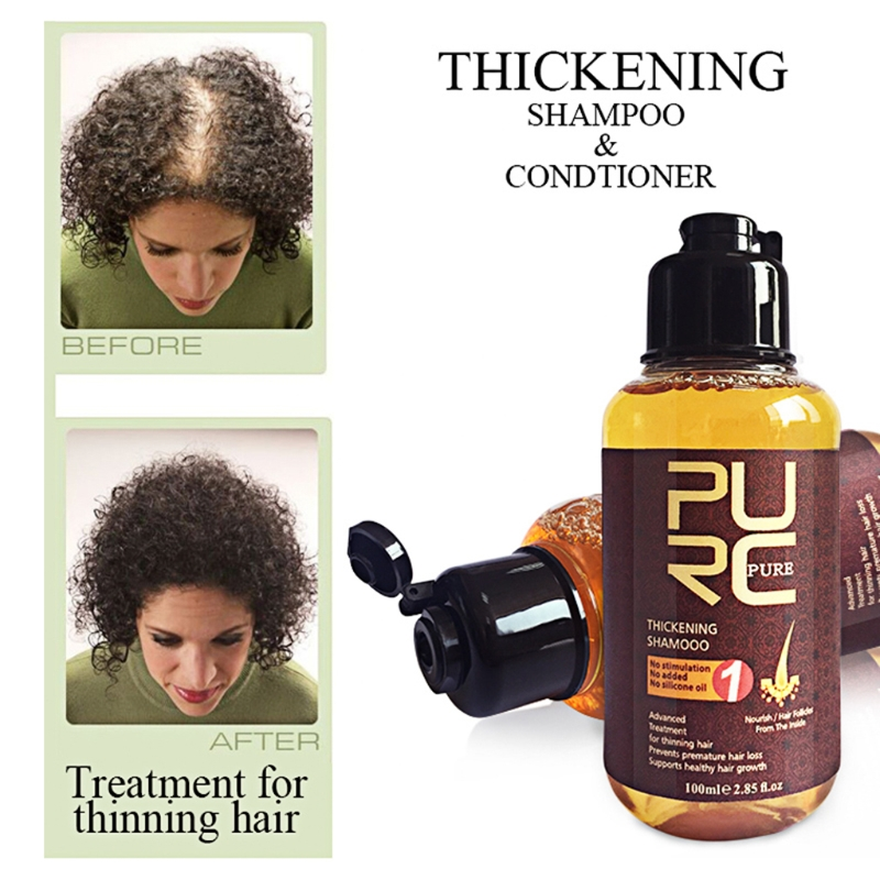 PURC 100ml Thickening Shampoo Ginger Hair Care Essences Treatment for Hair Loss Hair Growth Serum Hare Care Product image