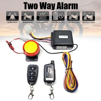 Two Way Alarm Motorcycle Scooter Security 2 Remote Control Engine Start Vibration Lock System 125dB