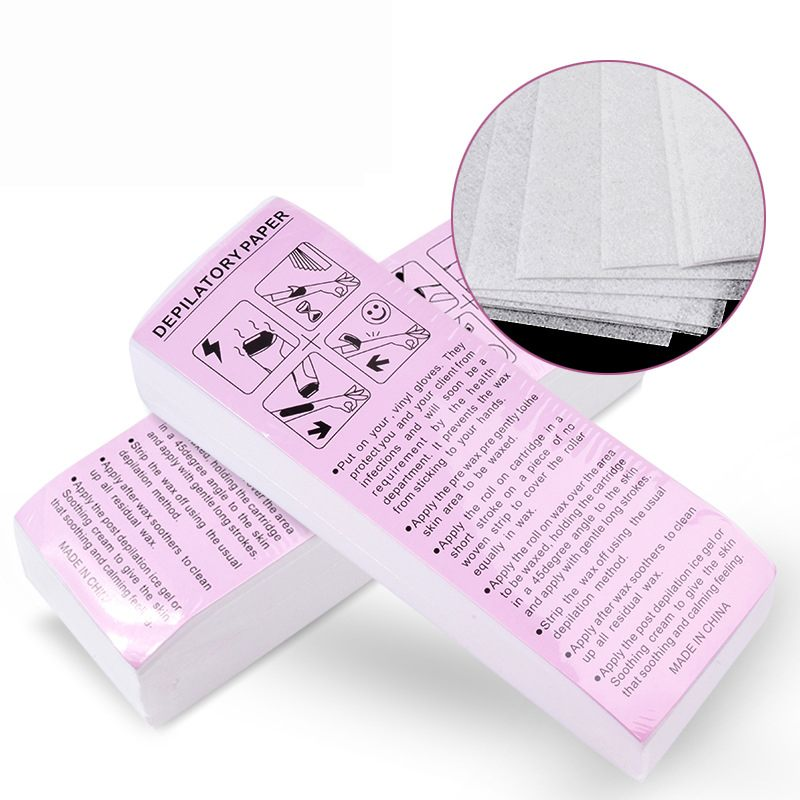 100 Pieces Removal Fabric Non-woven Body Tissue Hair Remove Wax Paper Rolls High Quality Hair Removal Epilator Wax Tape Paper