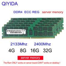 Серверная Память DDR4, 8 ГБ, 16 ГБ, 4 Гб, 2400 МГц, ECC REG PC4-2133P 2133 T, процессор с поддержкой серверной памяти x79 x99 X58