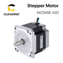 Motor paso a paso Nema 34, 86mm, 4.5N.m 4.2A(34CS45E-420), 4 cables de plomo, para fresadora de grabado CNC