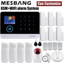 Hause Wifi GSM Alarm Security System Drahtlose Einbrecher Sicher Kits 433MHz Detektor Sensoren RFID APP Control Russland Spanisch Französisch