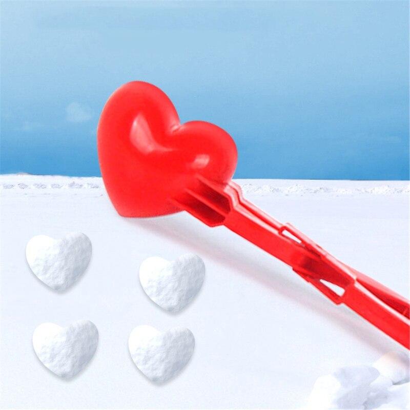 Heart Shape Snow Snowball Maker Clip Maker Snow Sand Mold Tool Winter Kids Child