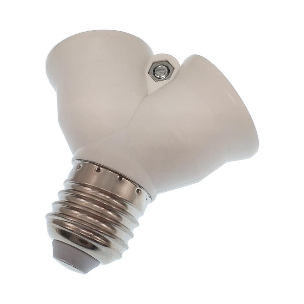 2 в 1 E27/B22 к 2E27 удлинитель цоколь Адаптер сплиттер 1E27 к 2E27 держатель лампы конвертер CE Rohs - Цвет: E27-2E27
