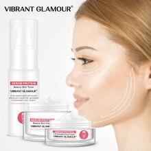 VIBRANT GLAMOUR Serum Protein Repair Face Cream Facial Toner Eye Cream Skin Care Set Anti-Wrinkle Moisturizing Against Puffiness цена