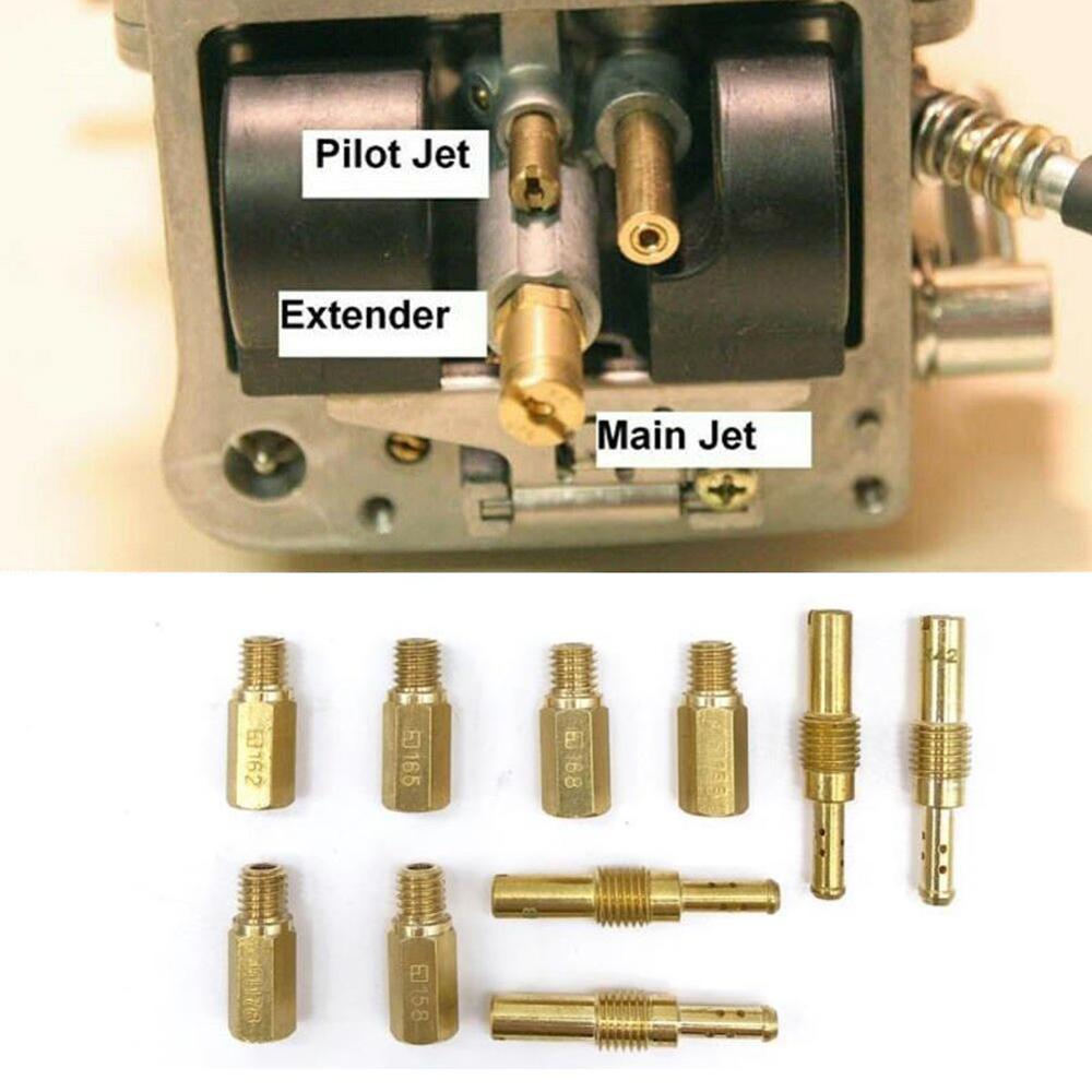 20pcs Carburetor Main Jet Slow Pilot Jet Kit Set for Keihin OKO KOSO PE PWK Carb A7704F