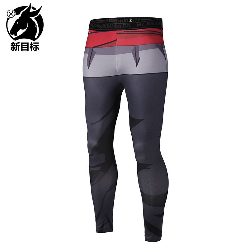 Men's Trousers AliExpress 2019 Spring New Style Healthy Beauty Yoga Pants Cartoon Digital 3D Printed Elasticity Sports Leggings