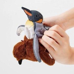 Image 2 - Ewoluujący pingwin Plushie japoński śliczne jaja pisklęta dorosłych pingwiny monety kiesy nadgarstek monety portfel etui kobiety torebka stojak w kształcie karty