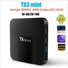 TX3 Mini Smart TV Box Android 8.1 Amlogic S905W 1G 8G 2G 16G 4K H.265 2.4G 5G Dual wifi Set Top Box lettore multimediale PK H95 T95
