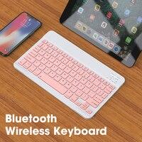 78 tasti tastiera Bluetooth Tablet Mini tastiera Wireless per Apple iPad Samsung Laptop iOS Tablet Android Teclados rosa portatile