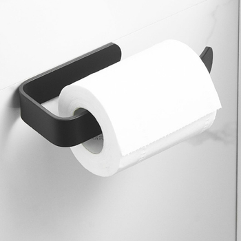 Acrylic Toilet Paper Holder Tissue Rack Wall Mounted Bathroom Kitchen Roll Holder Paper Tissue Rack Hook Modern Black vintage wall mounted tissue towel hanging rope toilet paper holder kitchen roll paper rack home organizer bathroom decoration