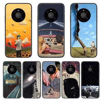 Matte Shockproof Phone Case For Huawei mate 30 10 20 40 Lite Smart Z Pro Black Etui 3D Coque Painting Hoesjes case image