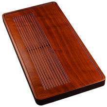 Rosewood Tea Tray Drainage Type Household Solid Wood Simple Large Gong fu Teaset Tray Log Small Tea Table(China)