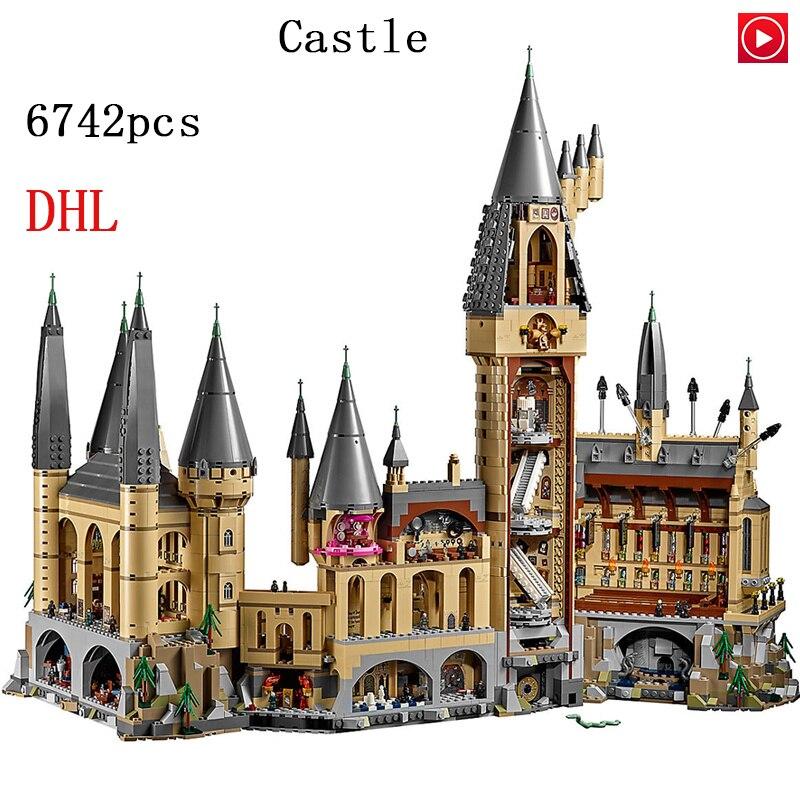 16060 Kits Modelo de Potter Movie Magic Castle 6742Pcs Bloco de Construção de Tijolos Brinquedos para Crianças Presente Compatível com 71043 números de casa