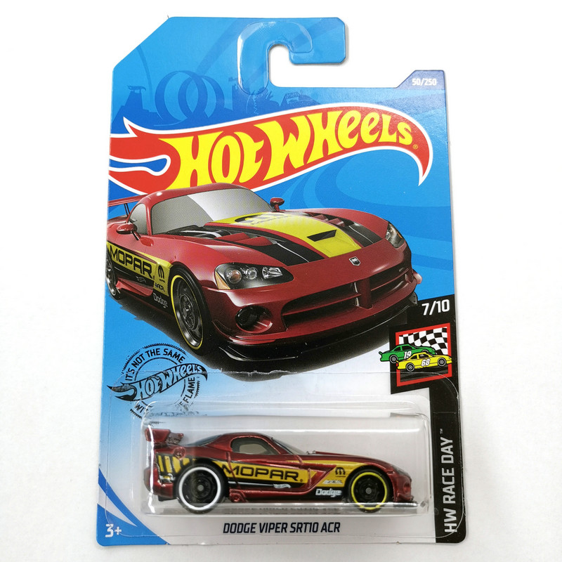 2020-50 Hot Wheels 1:64 Car DODGE VIPER SRT10 ACR Metal Diecast Model Car Kids Toys Gift