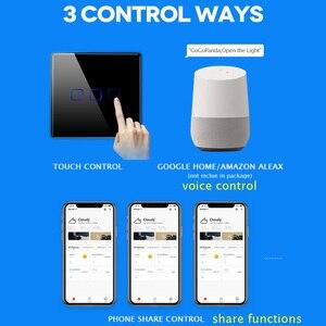 Image 3 - EU Standard 1 Weg Wifi Schalter Remote Voice Control Wand Licht Controller Smart Home Automation Touch Google Gome Tuya