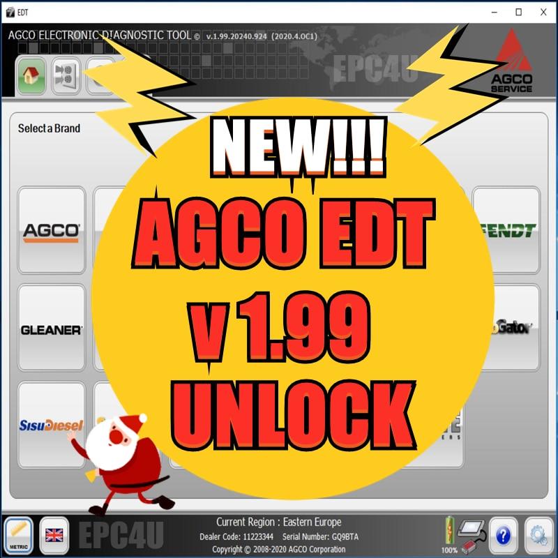 2021 heißer verkauf AGCO Elektronische Diagnose Werkzeug 1,99 [2020.09] EDT + Aktivierung Für jede Interface-INSTALLIEREN UNBEGRENZTE COMPUTER