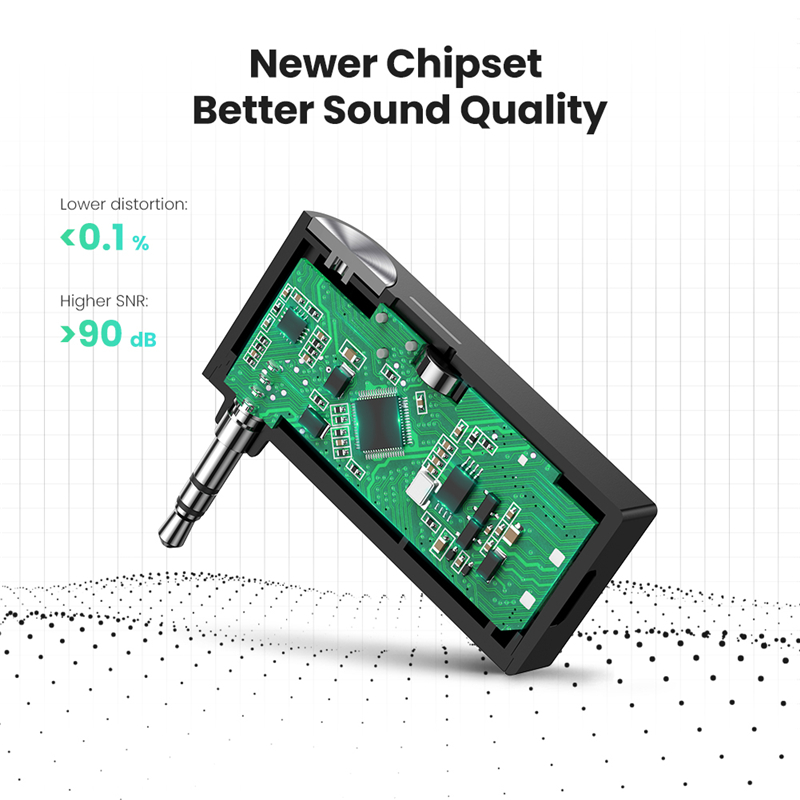 lowest price UGREEN Bluetooth Receiver Portable Mini Music Audio Adapter 5 0 Car Aux Adapter 3 5mm Stereo Hands-Free Car Kits for Home TV Car