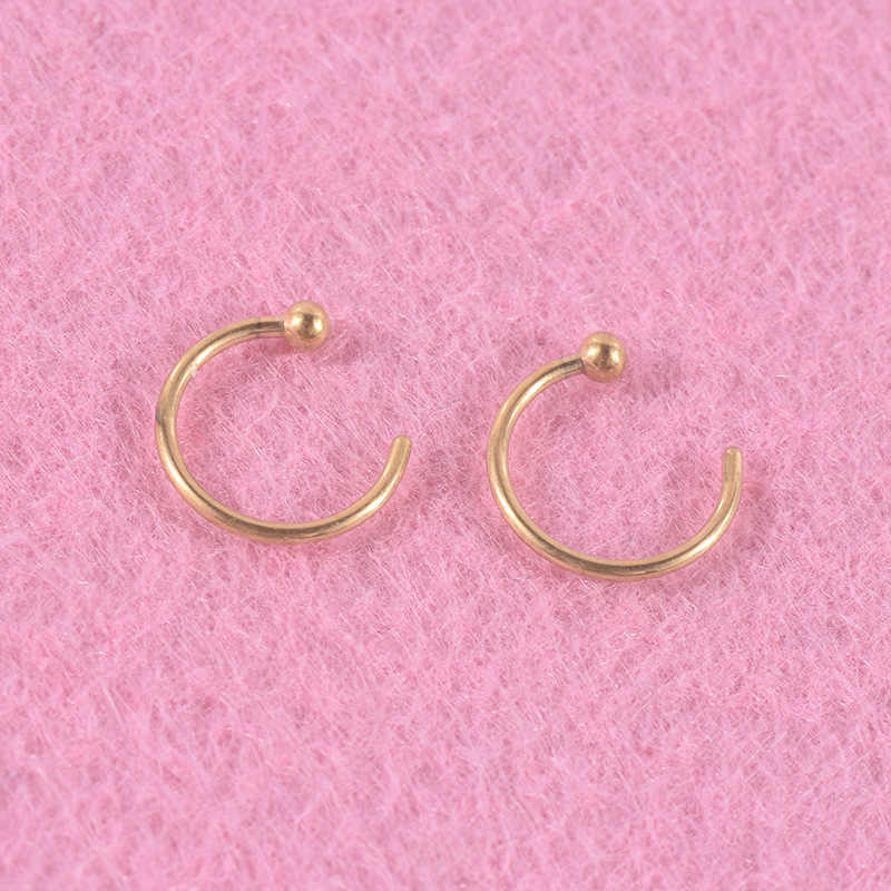 Hot Sales Rvs Nose Ring C-Vormige Neus Stud Oor Bone Stud Europa En Amerika Human Body Piercing sieraden