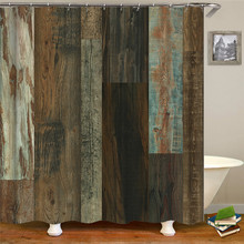 Vintage Western Shower Curtain Art Tree Rings to Sunset High Quality Waterproof Bathroom shower