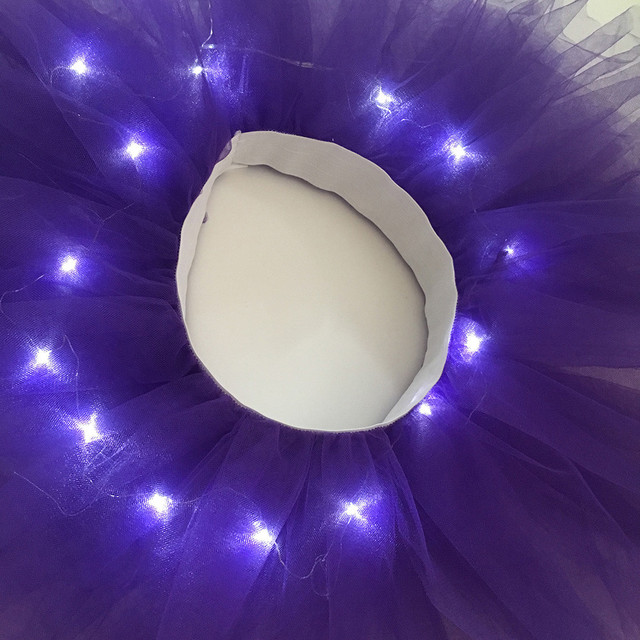 Women's Girl LED Light Up Tulle Tutu Dancing Skirt 2019 New Fashion 8 colors Party Night Skirts Halloween Costumes Skirts z0905 10