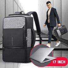 17 นิ้วกระเป๋าเป้สะพายหลังแล็ปท็อปกระเป๋าป้องกันการโจรกรรมชายชายBagpack USB 15.6 โน้ตบุ๊คธุรกิจท่องเที่ยวกระเป๋าเป้สะพายหลังManกันน้ำกลางแจ้งกระเป๋า