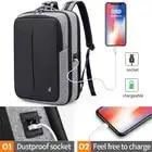Bange antirrobo para hombres de negocios mochilas para ordenador portátil de 15,6 pulgadas resistente al agua mochila de carga USB externa mochila de viaje de moda escolar