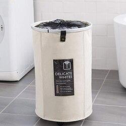 Katlanabilir depolama sepeti ile tekerlekler çamaşır sepeti katlanabilir büyük sepet varil kirli giysiler çamaşır torbası