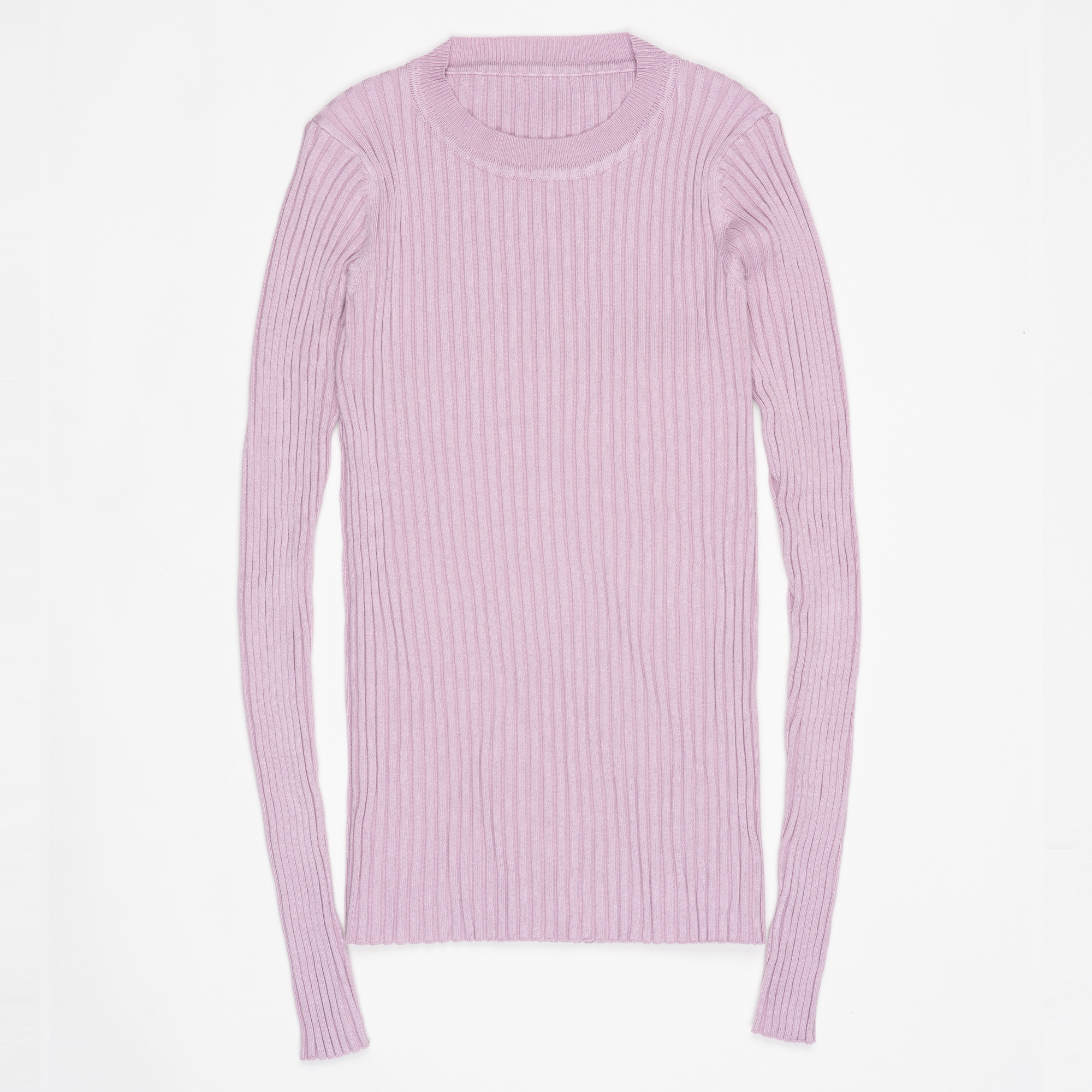Women Sweater Pullover Basic Ribbed Sweaters Cotton Tops Knitted Solid Crew Neck With Thumb Hole 32