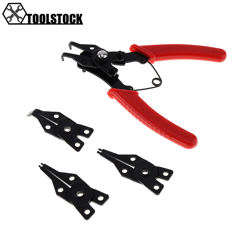 Hot 4 IN 1 Multifunctional Snap Ring Pliers Multi Tools Multi Crimp Tool Internal External Ring Remover Retaining Circlip Pliers