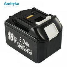 18v 6.0 8.0 5.0ah bl1860 substituição da bateria recarregável para makita íon de lítio bl1840 bl1850 bl1830 bl1860b lxt 400 ferramenta elétrica