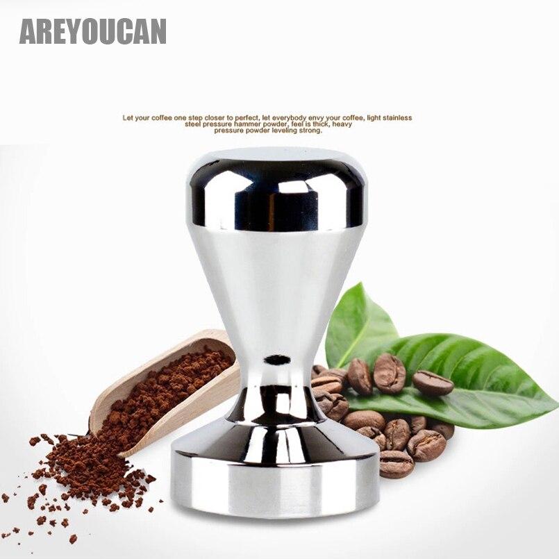 Areyoucan Stainless Steel Coffee Tamper Barista Espresso Maker Handmade Pressed Powder Hammer Coffee Grinder Coffee Tea Tool