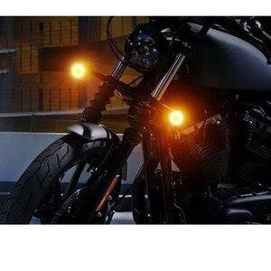 Image 3 - 2 sztuk motocykl kierunkowskazy wskaźnik światła retro Bullet Flashers LED żarówki lampy dla Harley Honda Suzuki Yamaha Kawasaki ATV