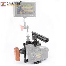 Cage de caméra CAMVATE avec poignée supérieure et plaque de montage sur trépied, pour Canon 60D/70D/7D Mark II/5DSR/ Nikon D7000/ Sony A99 /GH5/GH4