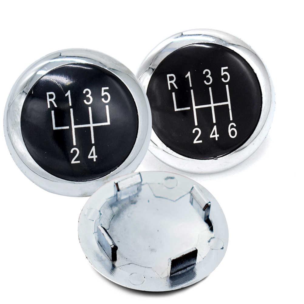 5/6 Speed Pookknop Stok Badge Embleem Trim Cap Cover Voor Vw Passat B6 2005-2011 B7 2010-2014 Cc 2009-2012