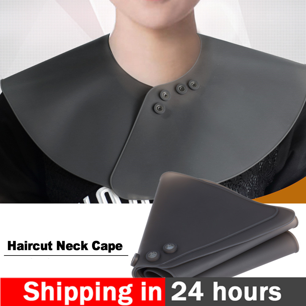 Neck Cape Wrap Collar Shield For Haircut Waterproof Silicone Hair Coloring Cuttin Barber Hairdressing Hair Styling Tool Hot Sale