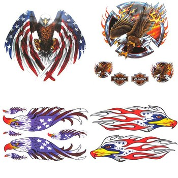 Fashion Car Body Sticker American Flag Bald Eagle Car Sticker PVC Coloful Decals Motorcycle Accessories Sticker image