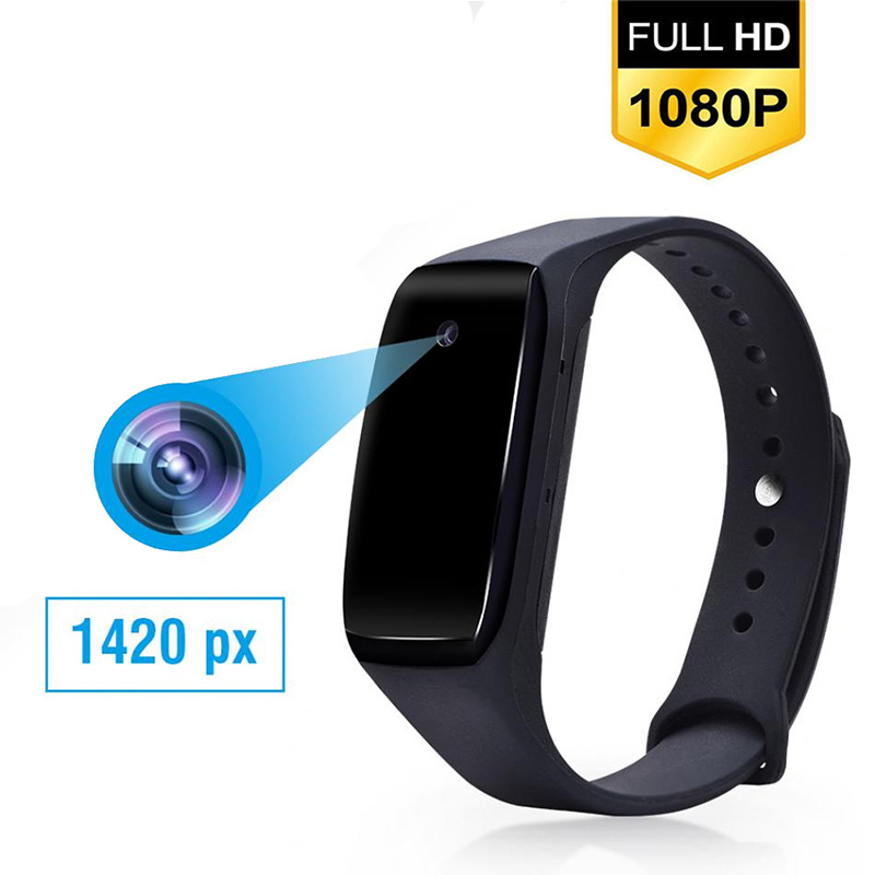 HD 1080P Camcorder Smart Bracelet Camera Mini Camera Wristband 14.2 Million Pixels Wearable Device Bracelet Cam(China)