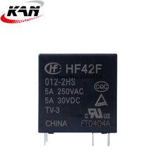 10 pçs/lote Power relay JZC-42F HF42F-005-2HS HF42F-012-2HS HF42F-024-2HS 5A250VAC 6PIN 2 grupo normalmente aberto