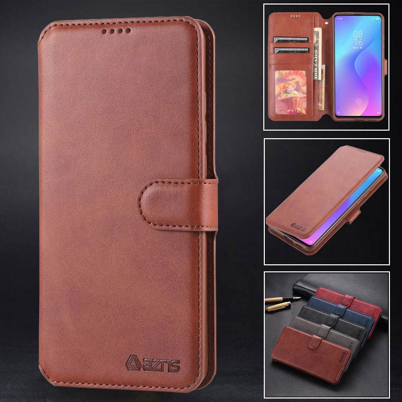 Wallet Case For Xiaomi Redmi Note 7 Cover Case Luxury Leather Flip Cover Redmi 6A Note 6 Pro Shockproof Vintage Phone Housing