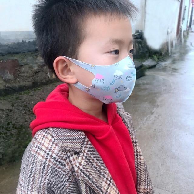 1 Pcs Comfortable Kids Washable Fashion Anti Dust Face Mask For Girls Boys Random Color 4