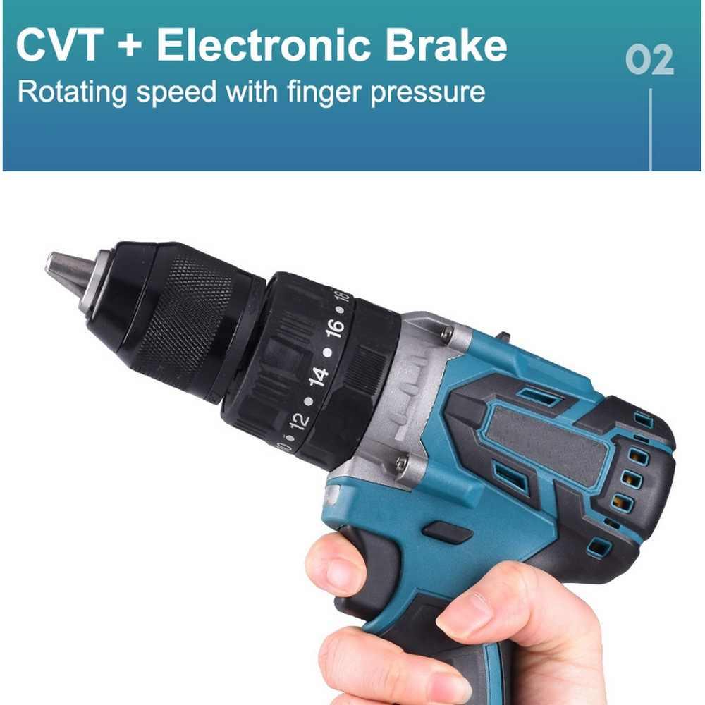 Borstelloze Elektrische Screwdrive 21V Klopboormachine Socket 4000 Mah Li Batterij Hand Boor Installatie Power Tools Met 1 Batterij