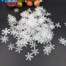 300pcs/lot Snowflake Frozen Party Christmas Decorations For Home Winter Wedding Decoration Navidad