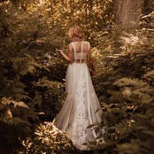 Vestidos de novia de ilusión de encaje, Sexy, nuevo estilo, foto Real, personalizado de fábrica