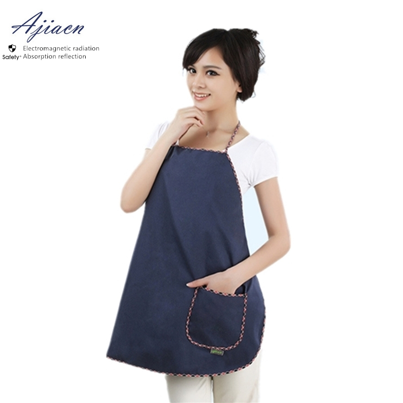 Ajiacn Recommend Anti-Electromagnetic Radiation Clothing Simple Style Computer And TV EMF Shielding Metal Fiber Apron