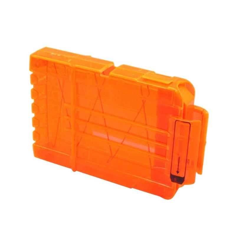 6-18 Orange Reload Clip For Nerf Magazine Round Darts Replacement Toy Gun Soft Bullet Clip For Nerf Blaster Arma De Brinquedo