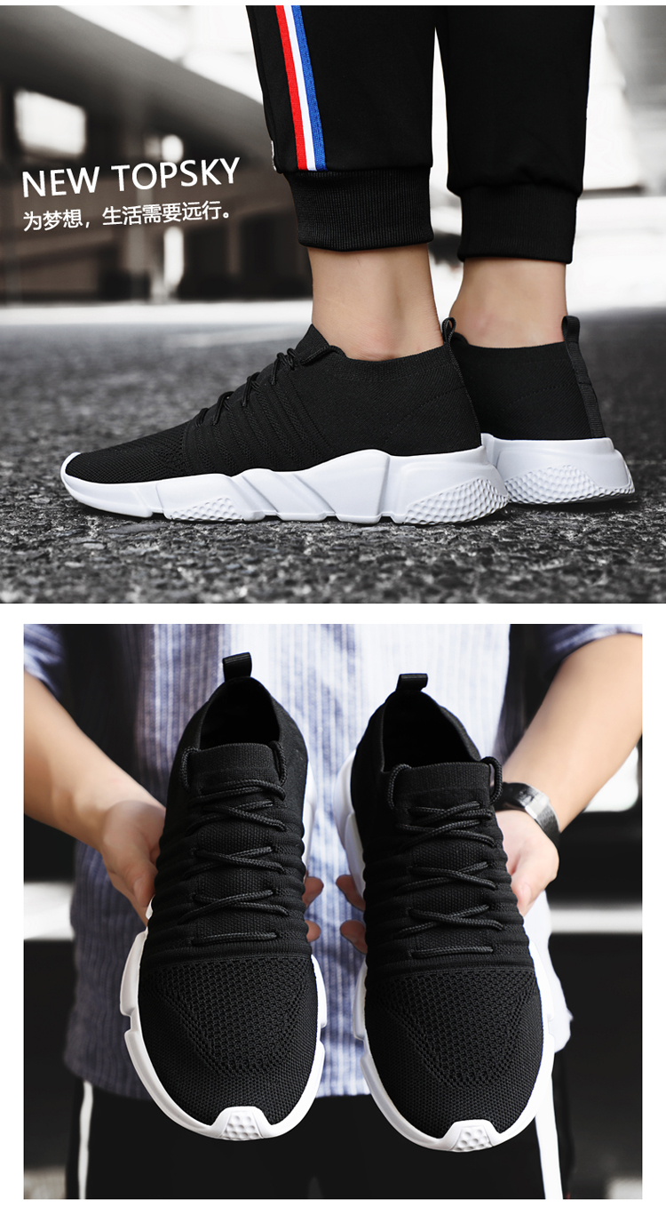 H9e909fa99cde4cc7bb13608d964a90b4k - Men Sneakers Lightweight Flykint Casual Shoes Men Slip On Walking Socks Shoes Trainers Mesh Flat Homme Big Size Tenis Masculino