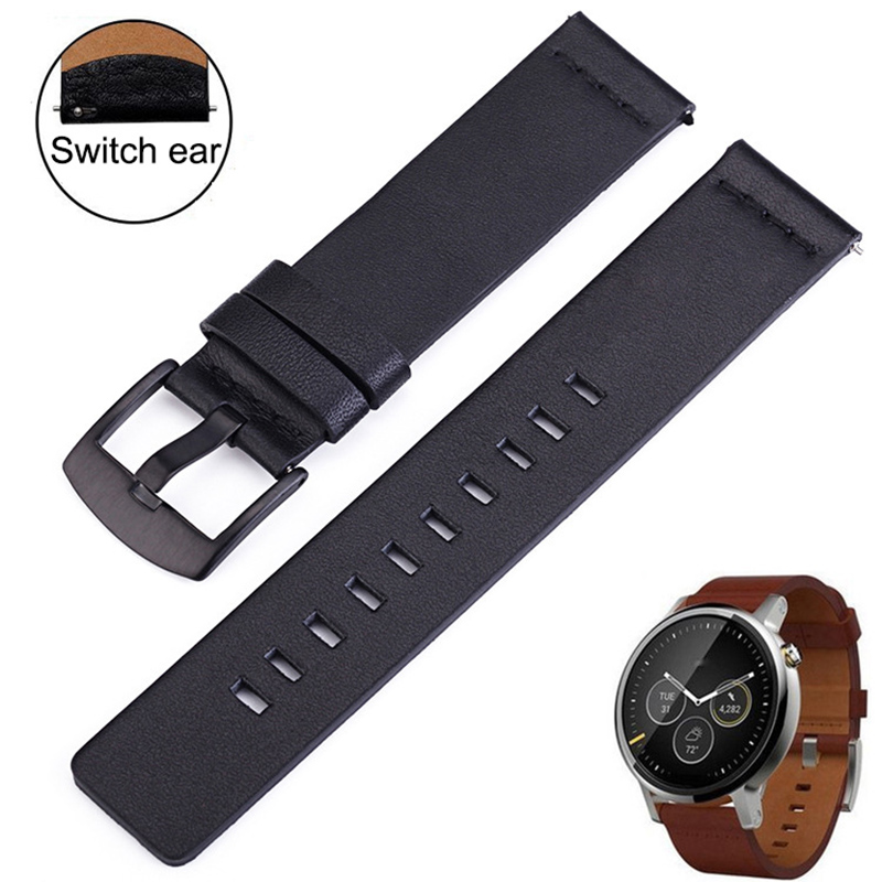 Genuine Leather Watchband Casual Strap For Smart Watch Oily Surface Samsung Galaxy Gear S3 Quick Release Straps 18 20 22 24mm