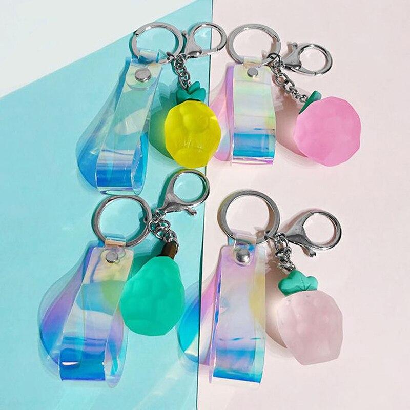 Cute Fruit Key Chain Women Key Chains Purse Pendant Bag For Keys Ring Creative Gift Women Trinket Bag Accessories
