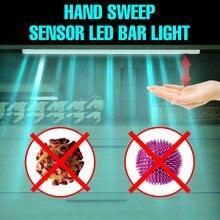 LED Lámpara Germicida UV 5V esterilizador UVC bombilla 20 30 40 50CM lámpara bactericida USB mano barrido Sensor Desinfectante Hogar Luz